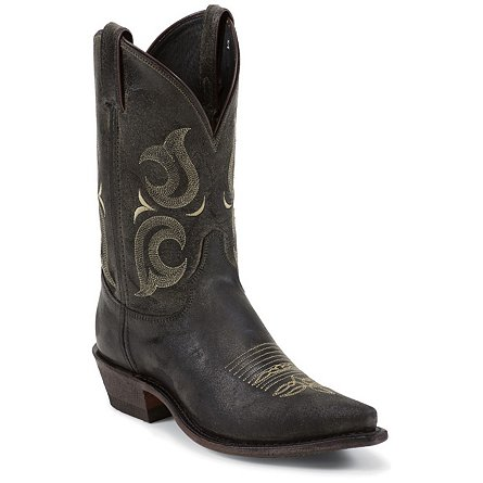 "Justin Boots Bent Railâ""¢ Black Desperado"