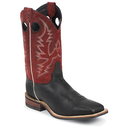 Justin Boots Bent Rail™ Black Burnished Calf