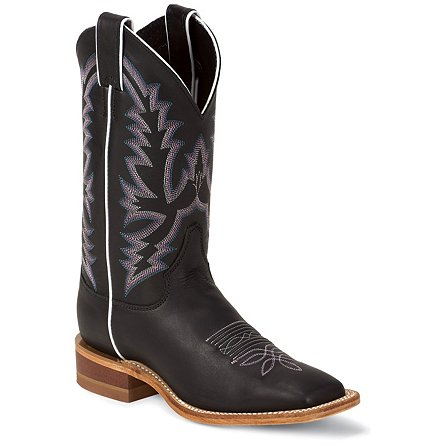 Justin Boots Bent Rail Black Burnished Calf