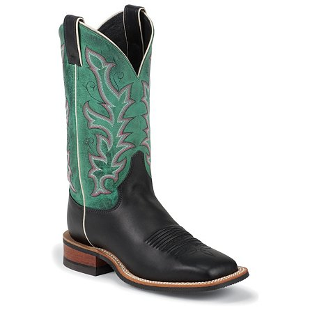Justin Boots Bent Rail™ Black Soft Calf