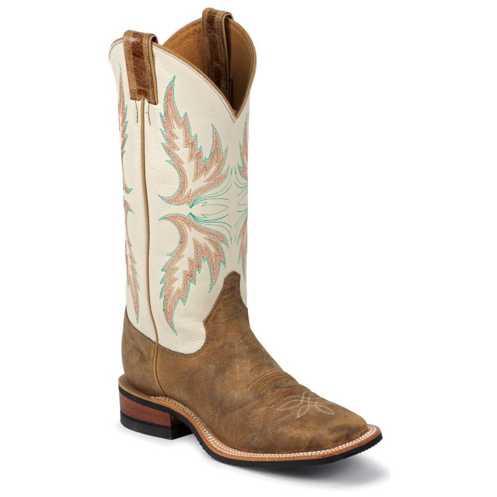 Justin Women's Bent Rail Tan Puma Cowhide Western Boots ...