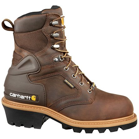 "Carhartt 8"" Waterproof Insulated Logger Soft Toe"