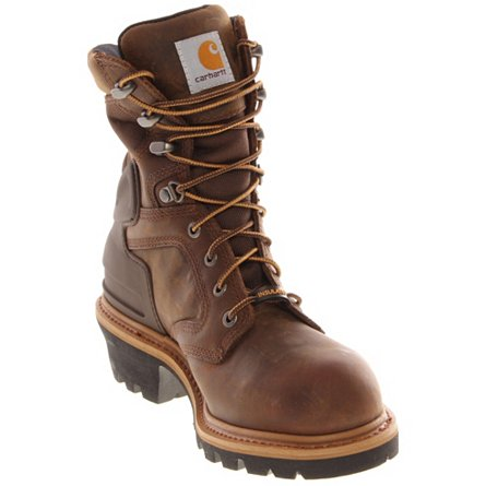 "Carhartt 8"" Waterproof Insulated Logger Safety Toe"