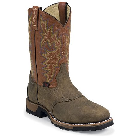 Tony Lama Antique Brown Montana Steel Toe