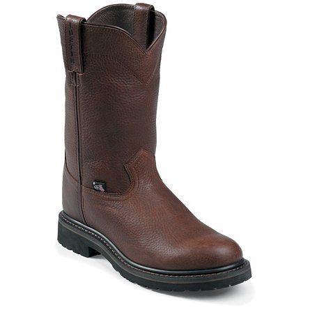 Justin Original Work Brown Trapper Cowhide Steel Toe 10""
