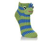 CAPELLI NEW YORK  Womens Animal Slipper Sock