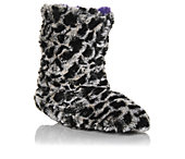 Womens Fluffy Colorblock Boot