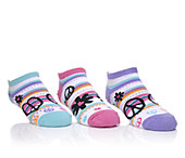Skechers Accessories Girls' Girls 3pr No Show