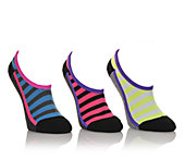 Womens 3pr Cushioned Hidden Socks