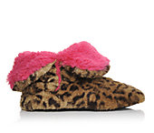 DEARFOAMS  Womens Fluffy Colorblock Bootie
