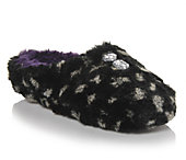 Dearfoams Women's Womens Fluffy Colorblock Scuff