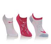 Nike Girls' 3p Girls Graphic No Show