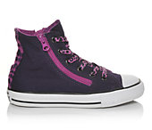 Converse Girls' Chuck Taylor All Star Double Zip Hi 11-6