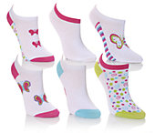 Keds Girls' 6-Pair No Show Socks XS