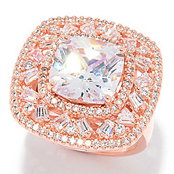 Victoria Wieck for Brilliante® 5.52 DEW Simulated Diamond Cushion Shaped Ring