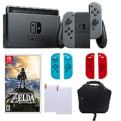 Nintendo Switch Gaming Console w/ Legend of Zelda Game, Silicone Controller Sleeves & Accessories