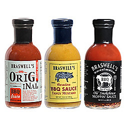 Deen Family 3 Pack 13.5 oz BBQ Sauce Gift Assortment