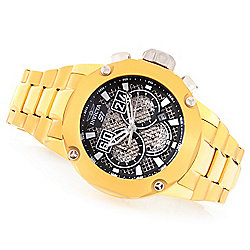 Invicta Men's 52mm S1 Rally Twisted Metal Quartz Chronograph Stainless Steel Bracelet Watch - 648-551