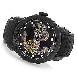 Invicta Men's 50mm Empire Dragon Ghost Automatic Skeletonized Dial Silicone Strap Watch - 649-460