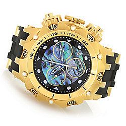 Invicta Men's 54mm Venom Hybrid Quartz Chronograph Abalone Dial Silicone Strap Watch - 652-848