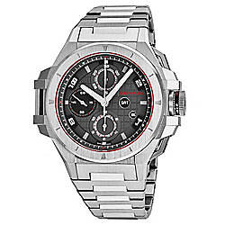 Snyper Men's 49mm IronClad Swiss Made Automatic Chronograph Grey Dial Stainless Steel Bracelet Watch - 655-390