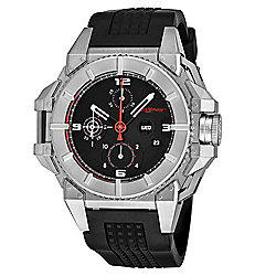 Snyper Men's 49mm One Swiss Made Automatic Chronograph Day & Date Rubber Strap Watch - 655-417