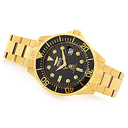 Invicta Men's 47mm Grand Diver Automatic Carbon Fiber Dial Stainless Steel Bracelet Watch - 655-620