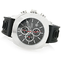 ARAGON Men's 47mm Parma Quartz Chronograph Silicone Strap Watch - 656-872