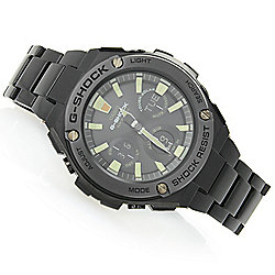 Casio Men's 48mm G-Shock G-Steel Solar Quartz Ana / Digi Multi Function Bracelet Watch - 656-928