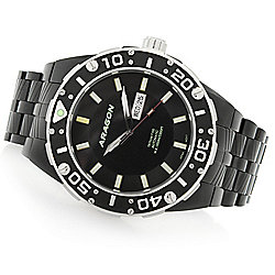 ARAGON Men's 52mm Enforcer Automatic Tritium Tube Stainless Steel Bracelet Watch - 657-979
