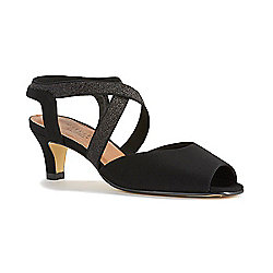 "Walking Cradles ""Boa"" Micro Suede Peep Toe Crisscross Pumps"