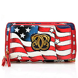 "Sharif ""I Love USA"" Hand-Painted Leather RFID Blocking Wallet"
