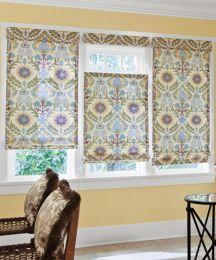 Flat Roman Fabric Shades Custom Roman Window Shades