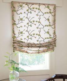 Relaxed Roman Fabric Shades Window Shades Custom Roman