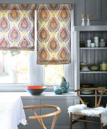Flat Roman Fabric Shades Custom Roman Window Shades