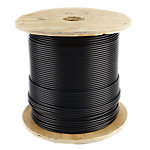 "Cable 1000FT Reel, 3/16"" Diameter with Black Nylon Coating"