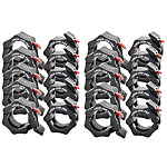 Lock-Jaw Pro Olympic Bar Collar Set | 10 Pair | Fits 2"