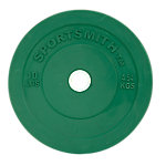 Olympic Rubber Bumper Plate | Sportsmith™ | 10 Lb | Green