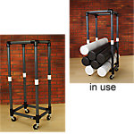 Foam Roller Storage Cart with Wheels | Gray