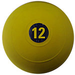 "D-Ball, 12lb, Yellow, No Bounce, 9"" Diameter"