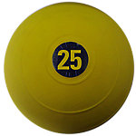 "D-Ball, 25lb, Yellow, No Bounce, 9"" Diameter"