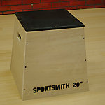 "Wooden Plyo Box | Assembled | No Finish | 20"" High Pyramidal Design"