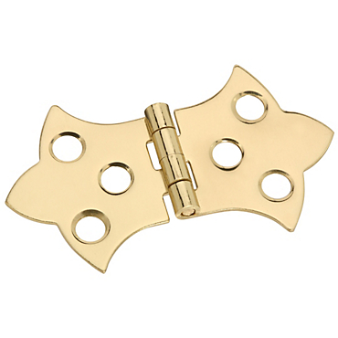 brassfinishes v1814 decorative hinges solid brass - Decorative Hinges