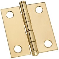 Solid Brass Button Tip Hinges