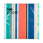 stripes paper luncheon napkin set of 20