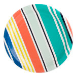 stripes paper plate set of 8