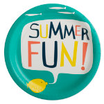 "fish ""summer fun"" paper plate set of 8"
