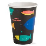 fish paper cup set of 8