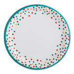 confetti paper dinner plate set of 8