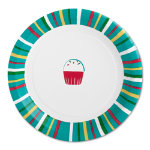 confetti paper luncheon plate set of 8